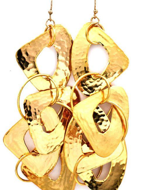 Triangular Charm Earrings