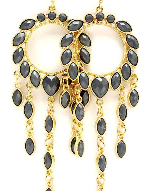 teardrop charm earrings