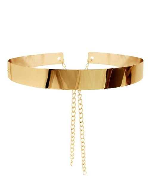 Gold Metal Belt with Chains