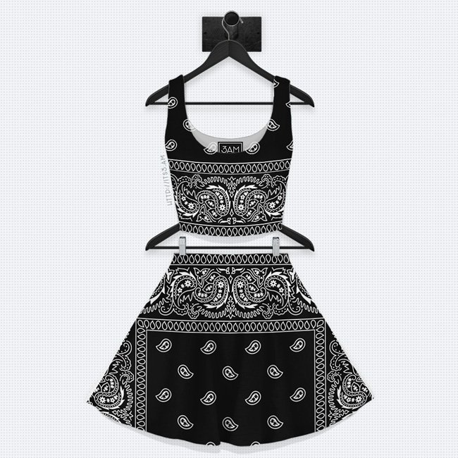Bandana Skater Skirt Set