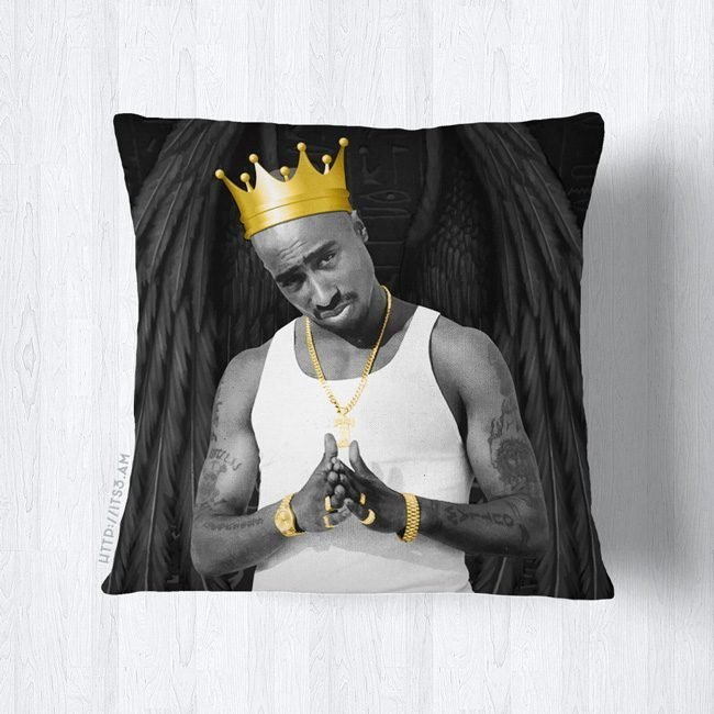 King Tupac Pillow