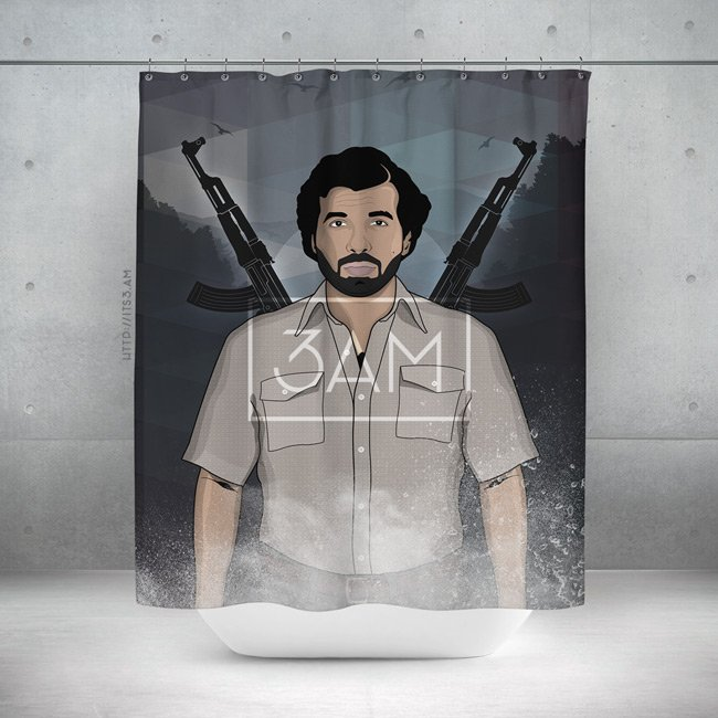 Drake Escobar Shower Curtain