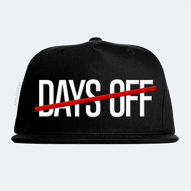 No Days Off Snapback