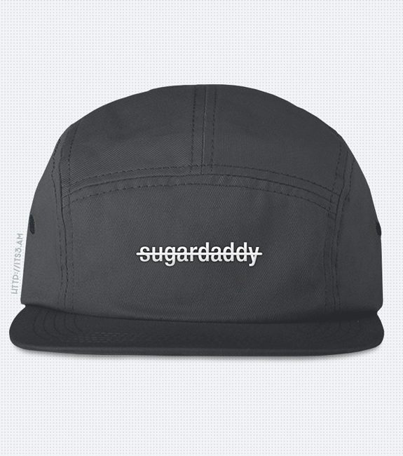 No Sugardaddy Five Panel Hat - Grey