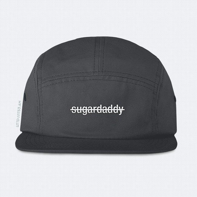 No Sugardaddy Five Panel Hat - Grey