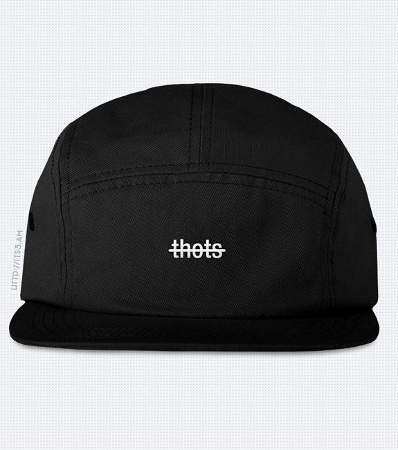 No Thots Five Panel Hat - Black