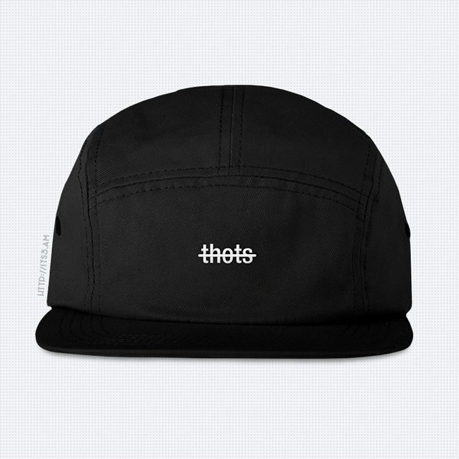 No Thots Five Panel Hat - Black
