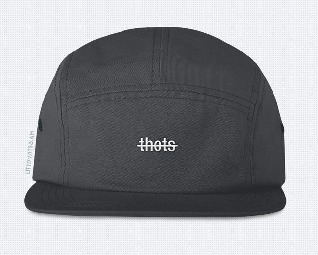 No Thots Five Panel Hat - Grey