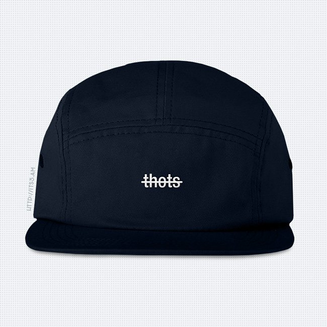 No Thots Five Panel Hat - Navy