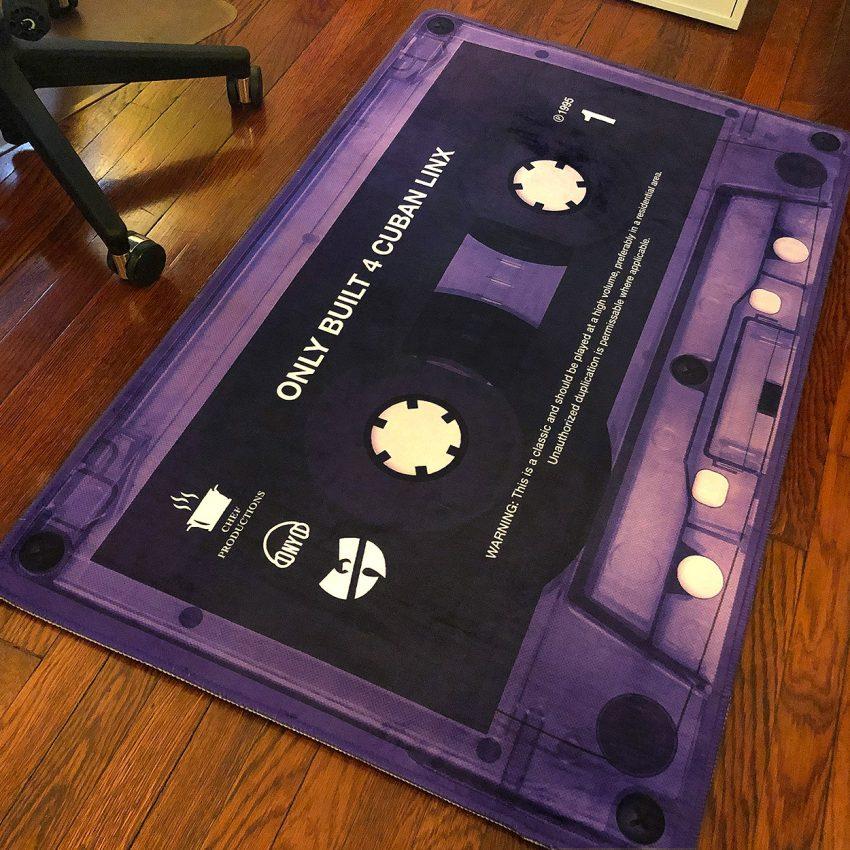 Purple Tape Rug - On Floor